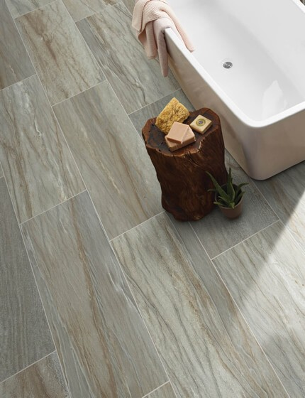 tile in bathroom | Great Western Flooring Co.