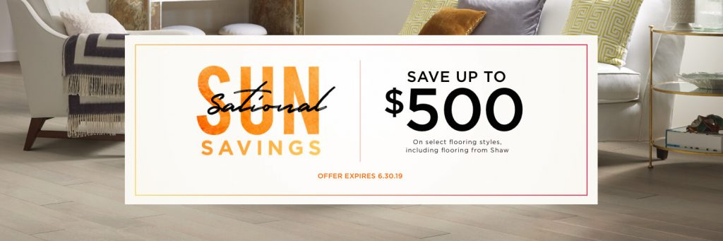 Sun-Sational Savings Sale | Great Western Flooring Co.