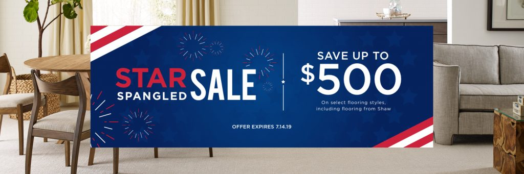 Star Spangled Sale | Great Western Flooring Co.
